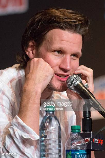 Actor Matt Smith attends the 'Tales from the TARDIS' panel during 2016 New York Comic Con on October 6 2016 in New York City