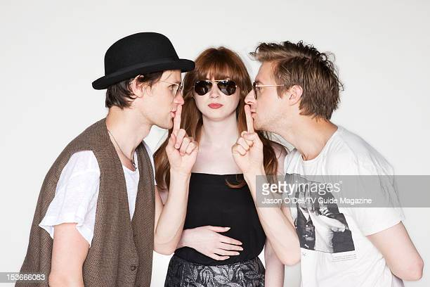 Actor Matt Smith Karen Gillan and Arthur Darvill are photographed for TV Guide Magazine on August 14 2012 on the TV Guide Magazine Yacht in San Diego...