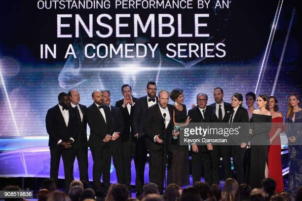 """Actor Matt Walsh and the cast of """"Veep"""" onstage during the 24th Annual Screen ActorsGuild Awards at The Shrine Auditorium on January 21, 2018 in Los..."""