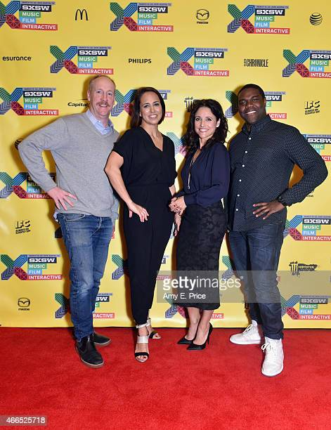 Actor Matt Walsh Anne Fulenwider Editor in Chief of Marie Claire and actors Julia LouisDreyfus and Sam Richardson attend 'The 'VEEP' Speaks' during...