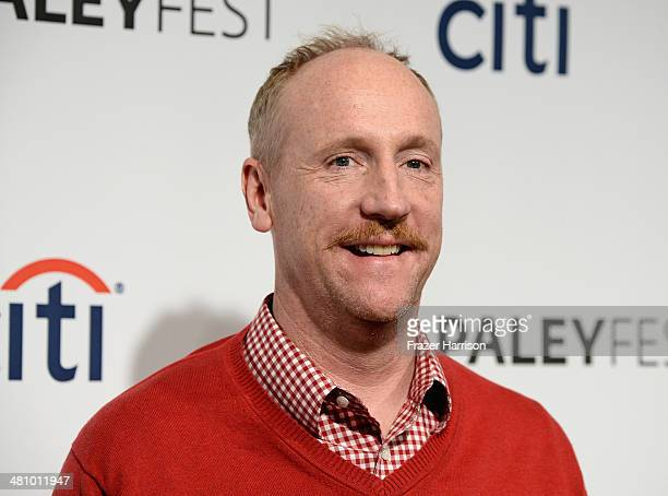Actor Matt Walsh arrives at The Paley Center For Media's PaleyFest 2014 Honoring 'Veep' at Dolby Theatre on March 27 2014 in Hollywood California