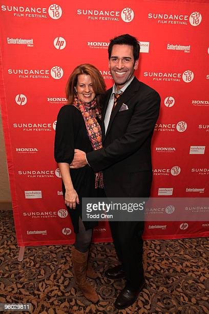 Actor Matt Walton and Alecia Hurst attend the Armless premiere at Yarrow Hotel Theater during 2010 Sundance Film Festival on January 22 2010 in Park...