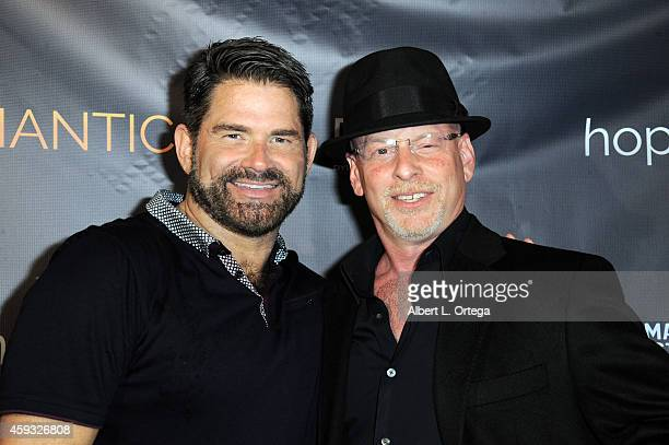 Actor Matt Zarley and director Benjamin Pollack arrive for the Special Screening of Matt Zarley's opefulROMANTIC With George Takei held at American...