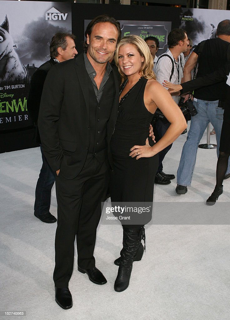 Actor Matthew Blashaw and his wife Teresa Blashaw arrive at Disney's 'Frankenweenie' premiere at the El Capitan Theatre on September 24, 2012 in Hollywood, California.