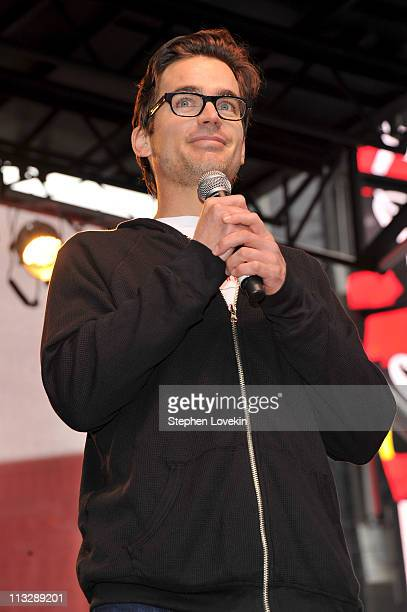 Actor Matthew Bomer speaks during the 14th annual Entertainment Industry Foundation Revlon Run/Walk for Women on April 30 2011 in New York City