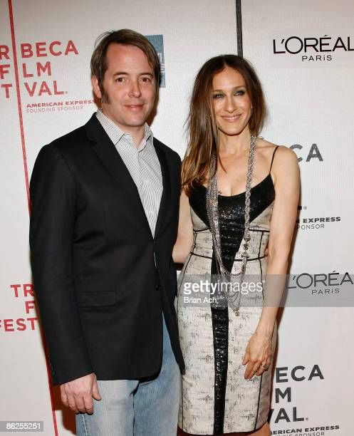 Actor Matthew Broderick and actress Sarah Jessica Parker attend the 8th Annual Tribeca Film Festival Wonderful World premiere at BMCC Tribeca...