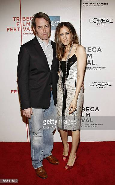 Actor Matthew Broderick and actress Sarah Jessica Parker wearing Narciso Rodriguez attends the 8th Annual Tribeca Film Festival Wonderful World...