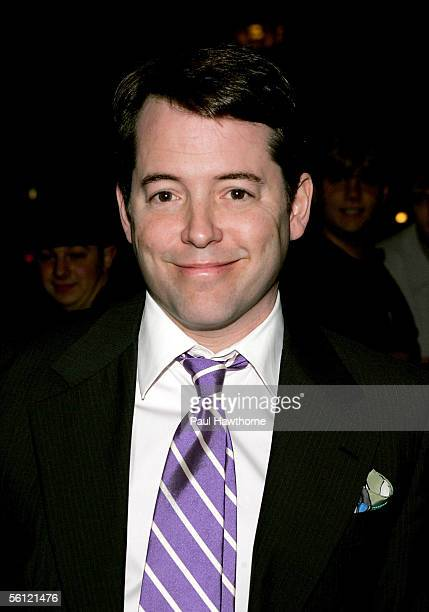 Actor Matthew Broderick arrives at the Ed Sullivan Theater for taping of The Late Show with David Letterman November 8 2005 in New York City