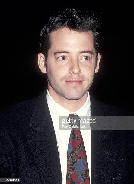 Actor Matthew Broderick attends the New York Friars Club Roasts Whoopi Goldberg on October 8 1993 at the New York Hilton Hotel in New York City