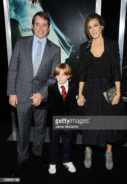 Actor Matthew Broderick James Wilkie Broderick and actress Sarah Jessica Parker attend the premiere of Harry Potter and the Deathly Hallows Part 1 at...