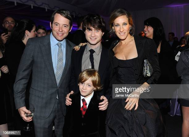 Actor Matthew Broderick James Wilkie Broderickactor Daniel Radcliffe and actress Sarah Jessica Parker attend the premiere of Harry Potter and the...