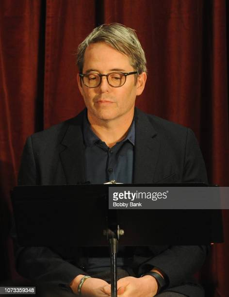 Actor Matthew Broderick performs a reading of Truman Capote's A Christmas Memory at St Peter's Episcopal Church on December 14 2018 in Morristown New...