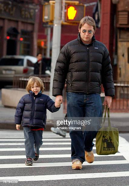 Actor Matthew Broderick walks with his son James in Manhattan January 6 2008 in New York City