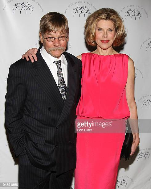 Actor Matthew Cowles and Actress Christine Baranski attends the New York Stage and Film's annual gala at The Plaza Hotel on December 13 2009 in New...