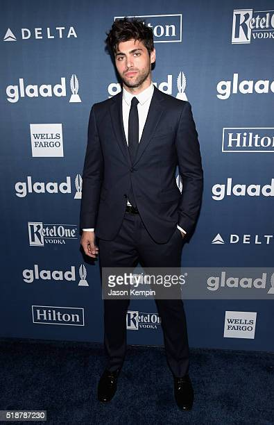 Actor Matthew Daddario attends the 27th Annual GLAAD Media Awards at the Beverly Hilton Hotel on April 2 2016 in Beverly Hills California