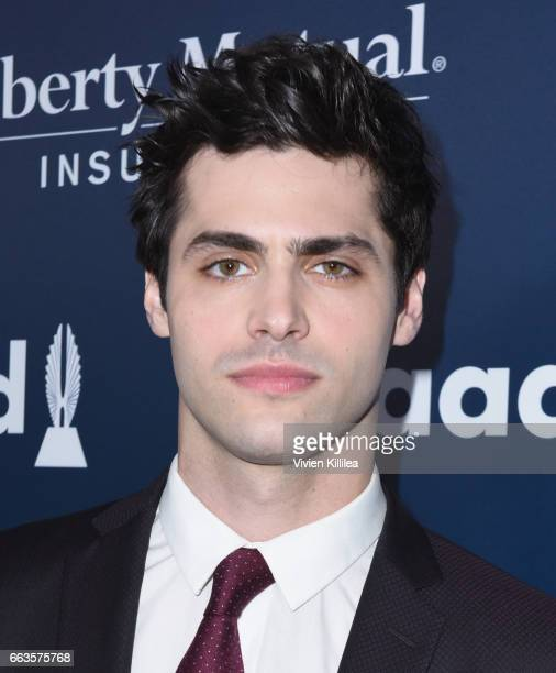 Actor Matthew Daddario attends the 28th Annual GLAAD Media Awards in LA at The Beverly Hilton Hotel on April 1 2017 in Beverly Hills California