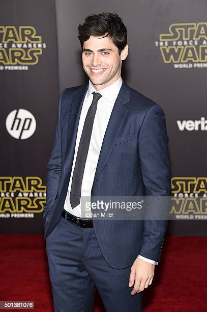 Actor Matthew Daddario attends the premiere of Walt Disney Pictures and Lucasfilm's Star Wars The Force Awakens at the Dolby Theatre on December 14th...