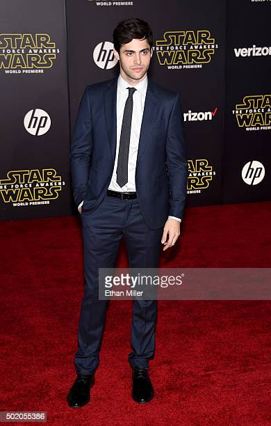 Actor Matthew Daddario attends the premiere of Walt Disney Pictures and Lucasfilm's Star Wars The Force Awakens at the Dolby Theatre on December 14...