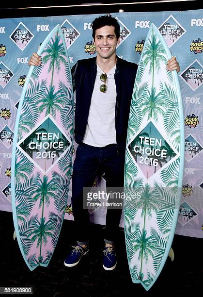 Actor Matthew Daddario poses in the press room during Teen Choice Awards 2016 at The Forum on July 31 2016 in Inglewood California