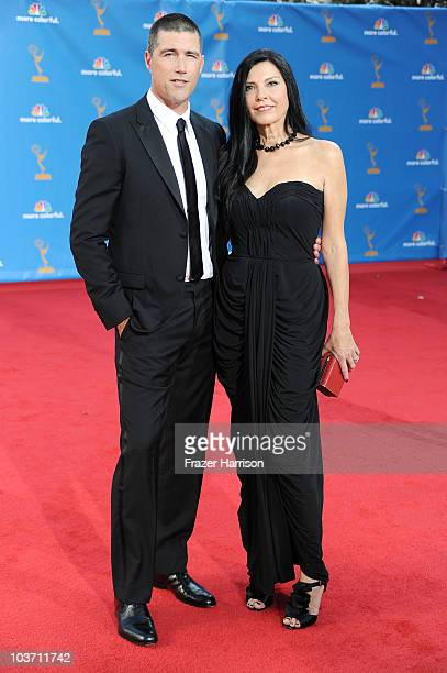 Actor Matthew Fox and Margherita Ronchi arrive at the 62nd Annual Primetime Emmy Awards held at the Nokia Theatre LA Live on August 29 2010 in Los...