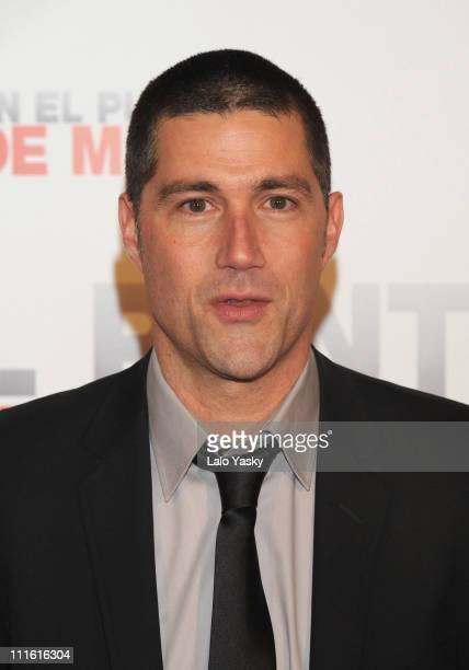 Actor Matthew Fox attends 'Vantage Point' photocall at Salamanca City Hall on Febraury 13 2008 in Salamanca Spain