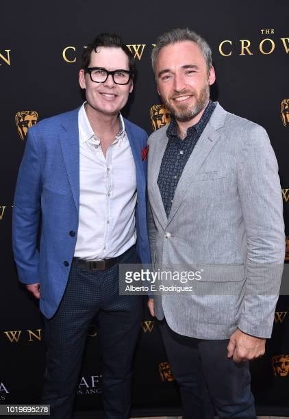 Actor Matthew Godbey and British Consul General in LA Michael Howells attend the BAFTALA Summer Garden Party at The British Residence on August 19...