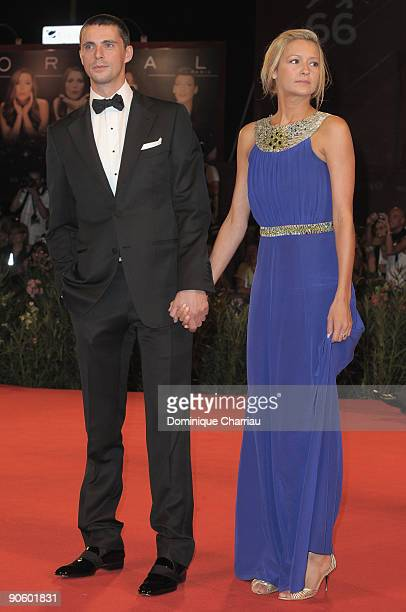 "Actor Matthew Goode and girlfriend Sophie Dymoke attend ""A Single Man"" Premiere at the Sala Grande during the 66th Venice Film Festival on September..."