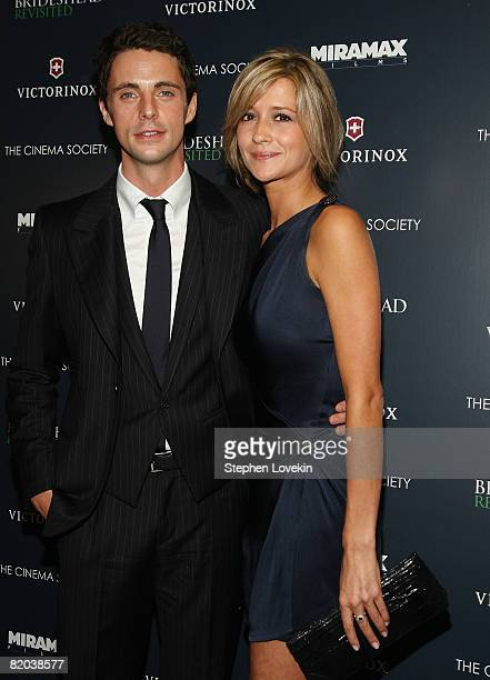 "Actor Matthew Goode and Sophie Dymoke attend a screening of ""Brideshead Revisited"" hosted by The Cinema Society and Victorinox at AMC Loews 19th..."