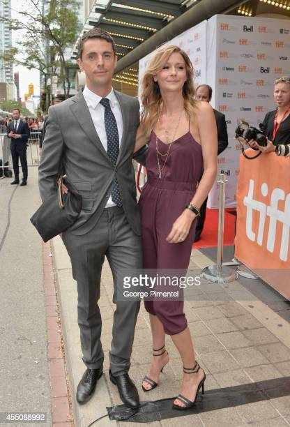 "Actor Matthew Goode and Sophie Dymoke attend ""The Imitation Game"" premiere during the 2014 Toronto International Film Festival at Princess of Wales..."