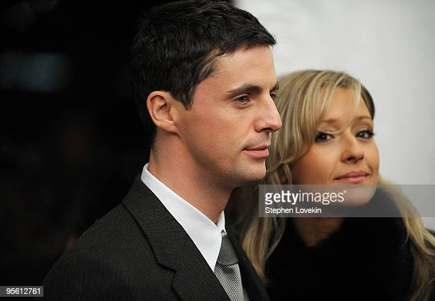 Actor Matthew Goode and Sophie Dymoke attend the premiere of Leap Year at Directors Guild Theatre on January 6 2010 in New York City