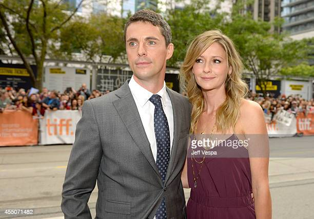 "Actor Matthew Goode and Sophie Dymoke attend the ""The Imitation Game"" premiere during the 2014 Toronto International Film Festival at Princess of..."