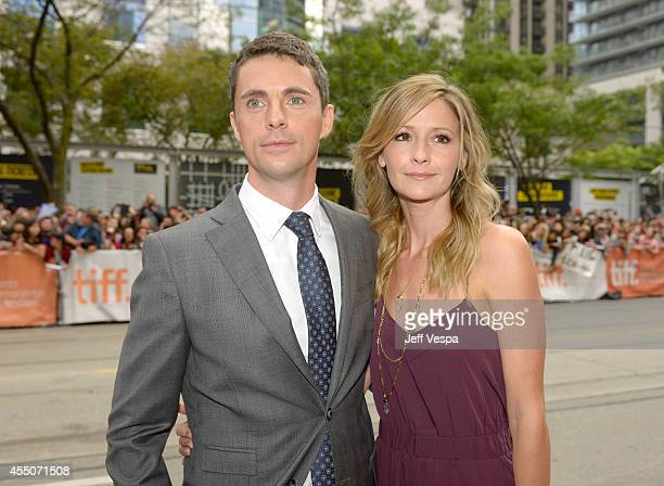 Actor Matthew Goode and Sophie Dymoke attend the The Imitation Game premiere during the 2014 Toronto International Film Festival at Princess of Wales...