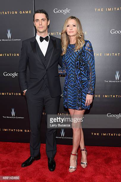 Actor Matthew Goode and Sophie Dymoke attend the The Imitation Game New York Premiere at Ziegfeld Theater on November 17 2014 in New York City