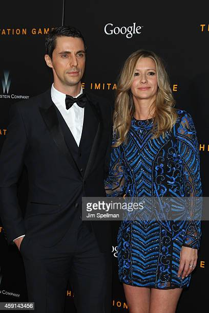 "Actor Matthew Goode and Sophie Dymoke attend the ""The Imitation Game"" New York Premiere at Ziegfeld Theater on November 17, 2014 in New York City."