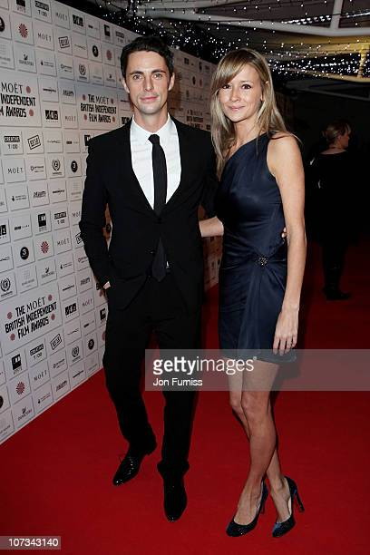 Actor Matthew Goode and Sophie Dymoke attends the Moet British Independent Film Awards at Old Billingsgate Market on December 5, 2010 in London,...