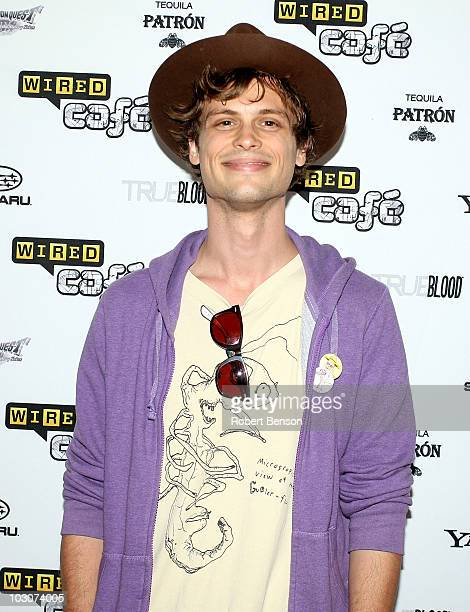 Actor Matthew Gray Gubler attends Day 3 of the WIRED Cafe at ComicCon 2010 held at the Omni Hotel on July 24 2010 in San Diego California