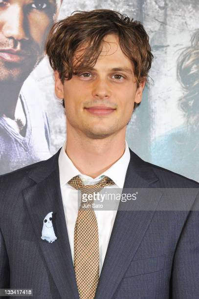 Actor Matthew Gray Gubler attends the Criminal Minds DVD launch promotion event at Tsutaya Roppongi on November 19 2011 in Tokyo Japan