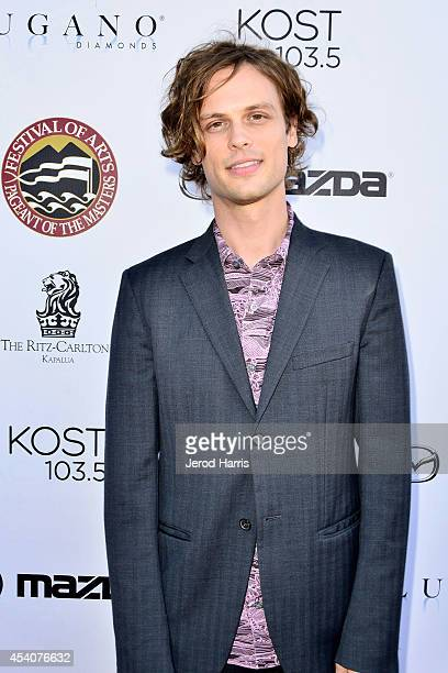 Actor Matthew Gray Gubler attends the Festival of Arts Celebrity Benefit Concert and Pageant on August 23 2014 in Laguna Beach California