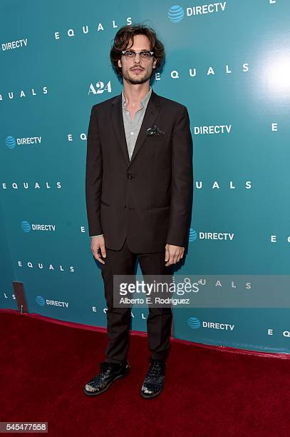 Actor Matthew Gray Gubler attends the premiere of A24's Equals at ArcLight Hollywood on July 7 2016 in Hollywood California