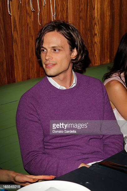 Actor Matthew Gray Gubler attends Vogue's Triple Threats dinner hosted by Sally Singer and Lisa Love at Goldie's on April 3 2013 in Los Angeles...