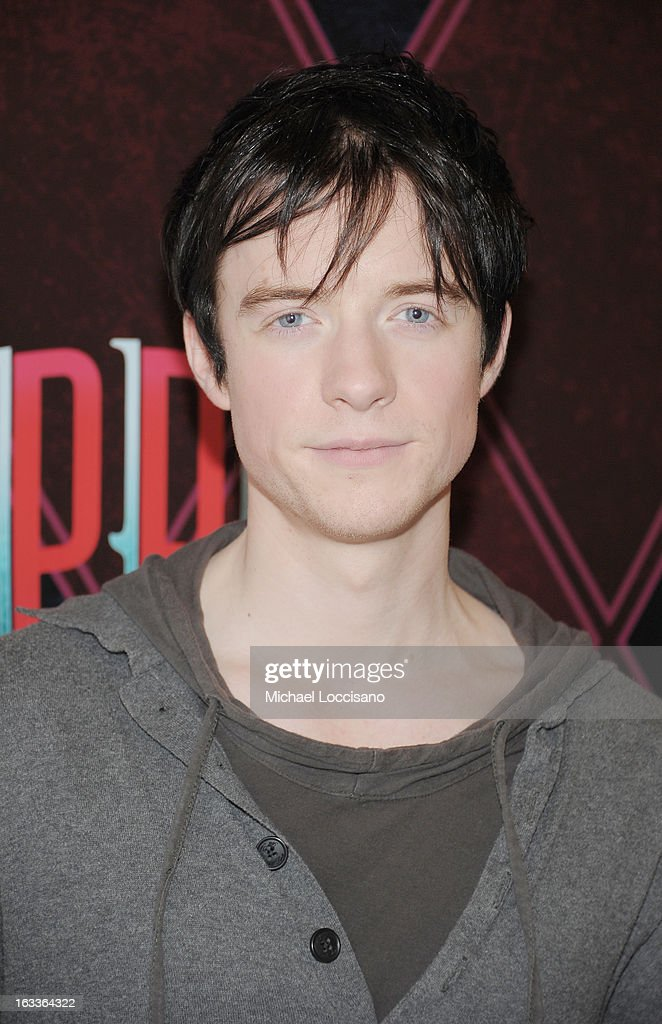 Actor Matthew James Thomas attends the 'Pippin' Broadway Open Press Rehearsal at Manhattan Movement & Arts Center on March 8, 2013 in New York City.