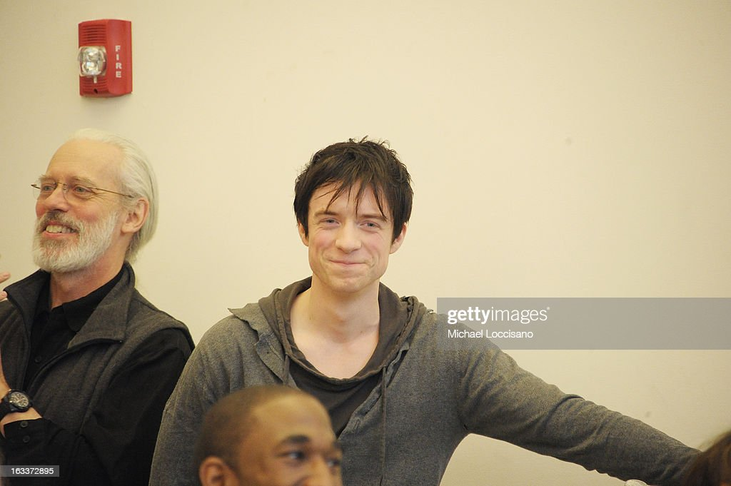 Actor Matthew James Thomas performs in the 'Pippin' Broadway Open Press Rehearsal at Manhattan Movement & Arts Center on March 8, 2013 in New York City.
