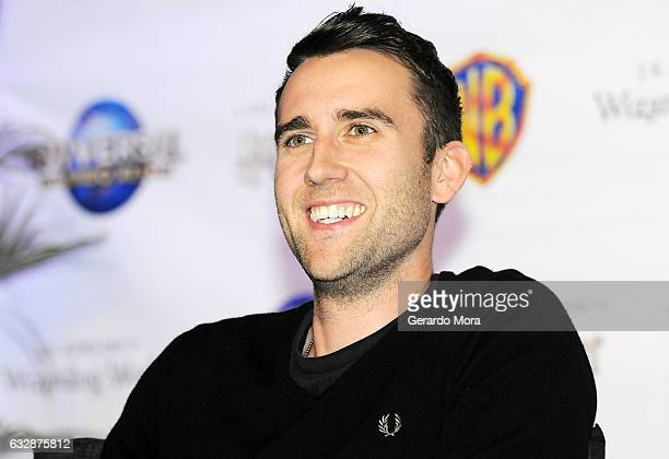 Actor Matthew Lewis answers questions during the fourth annual celebration of 'Harry Potter' at Universal Orlando on January 27 2017 in Orlando...