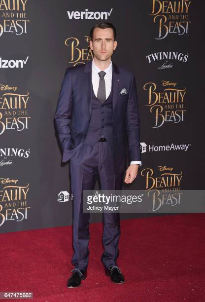 Actor Matthew Lewis arrives at the Premiere Of Disney's 'Beauty And The Beast' at the El Capitan Theatre on March 2 2017 in Los Angeles California