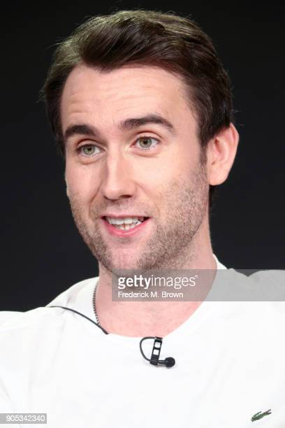 Actor Matthew Lewis of 'Girlfriends' speaks onstage during the Acorn TV portion of the 2018 Winter Television Critics Association Press Tour at The...
