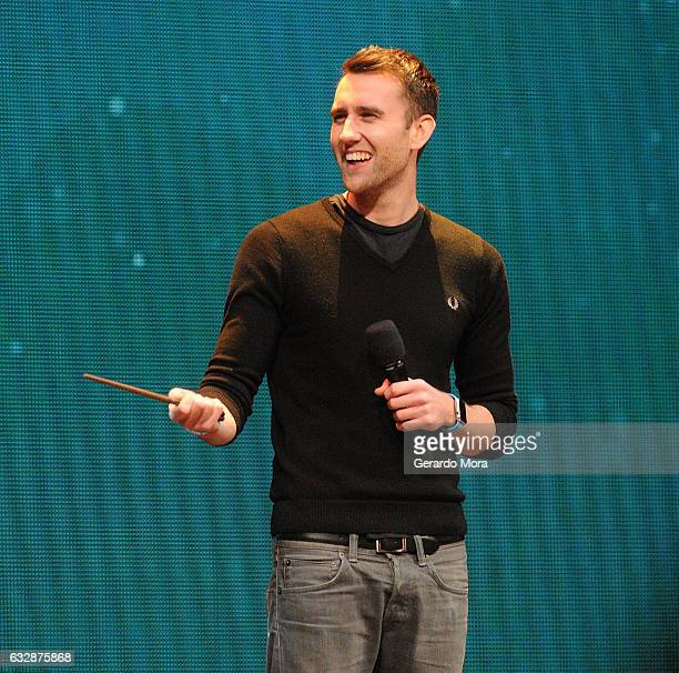 Actor Matthew Lewis smiles during the fourth annual celebration of 'Harry Potter' opening night ceremony at Universal Orlando on January 27 2017 in...