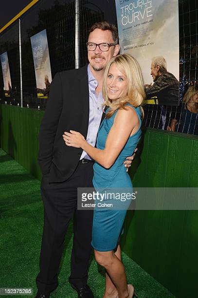 """Actor Matthew Lillard and Heather Helm arrive at the """"Trouble With The Curve"""" Premiere at Mann's Village Theatre on September 19, 2012 in Westwood,..."""