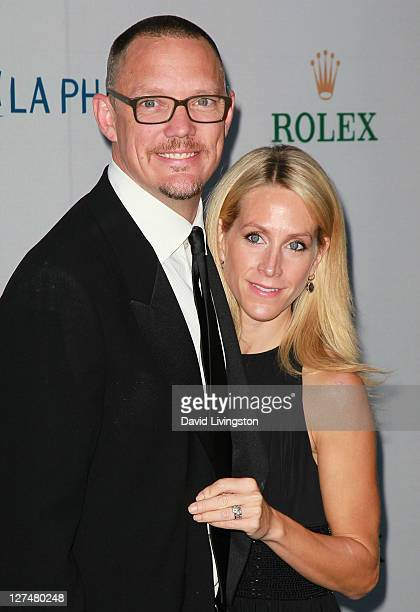 """Actor Matthew Lillard and wife Heather Helm attend the Los Angeles Philharmonic """"Rhapsody in Blue"""" opening night gala at Walt Disney Concert Hall on..."""