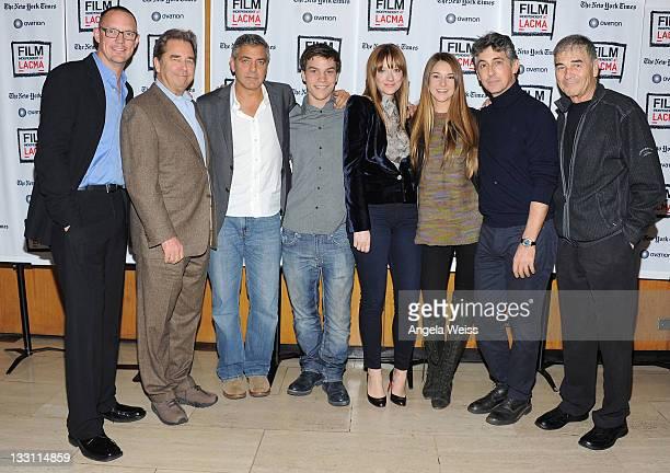 Actor Matthew Lillard Beau Bridges George Clooney Nick Krause Judy Greer Shailene Woodley director Alexander Payne and actor Robert Forrester attend...