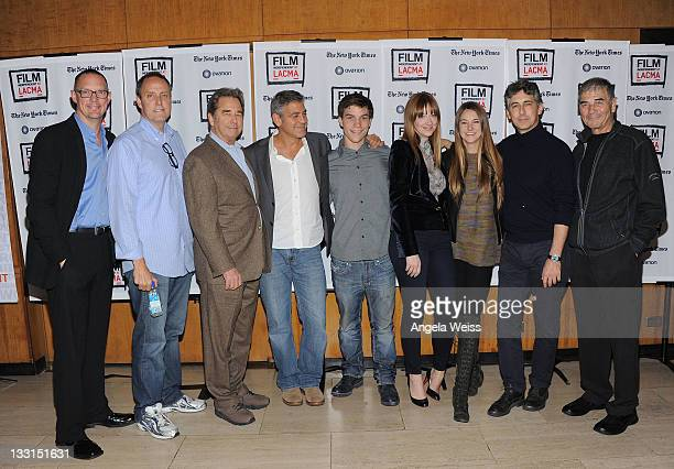 Actor Matthew Lillard CEO of Ovation TV Charles Segars actors Beau Bridges George Clooney Nick Krause Judy Greer Shailene Woodley director Alexander...